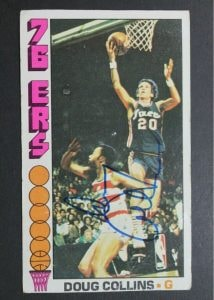 doug collins sixer signed card
